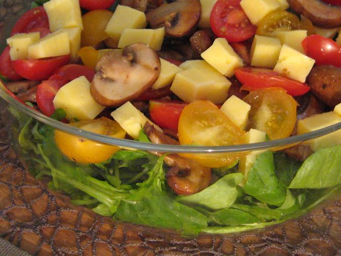 salat mit kaese Endlich Wochenende