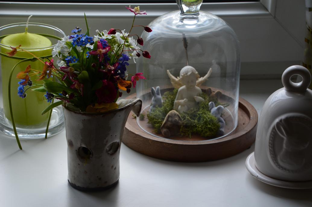 kleiner engel und 4 hasen Blumenfreitag bei uns